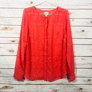 3/$25 G.H. Bass&Co button down long sleeve blouses